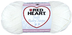 heart soft steps yarn solid white