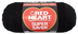 heart super saver jumbo yarn black